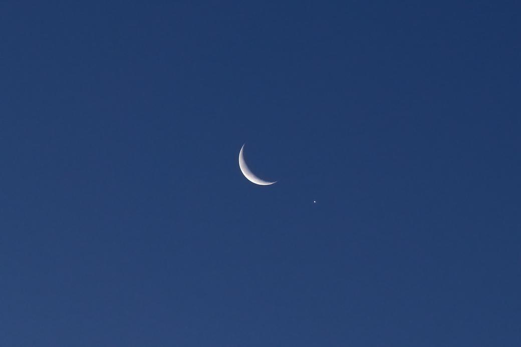 1月2日早朝の月と金星