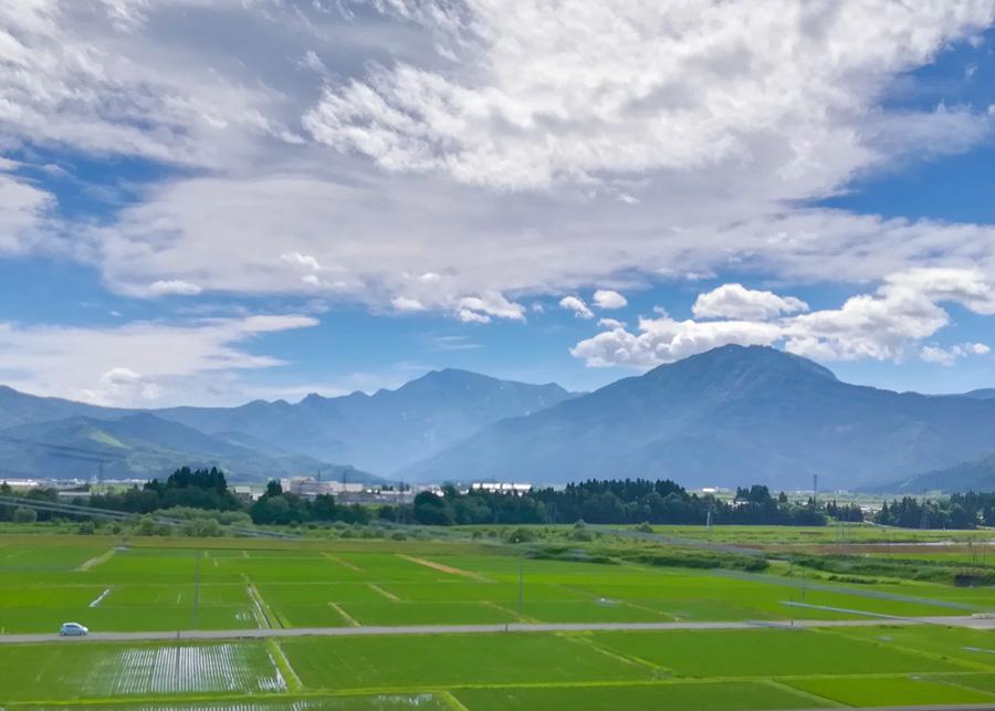 上越新幹線から長岡付近