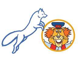 Grafik: Klimafuchs und HVV-Löwe Leopold