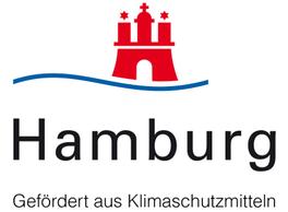 Logo: Hamburg - Gefördert aus Klimaschutzmitteln