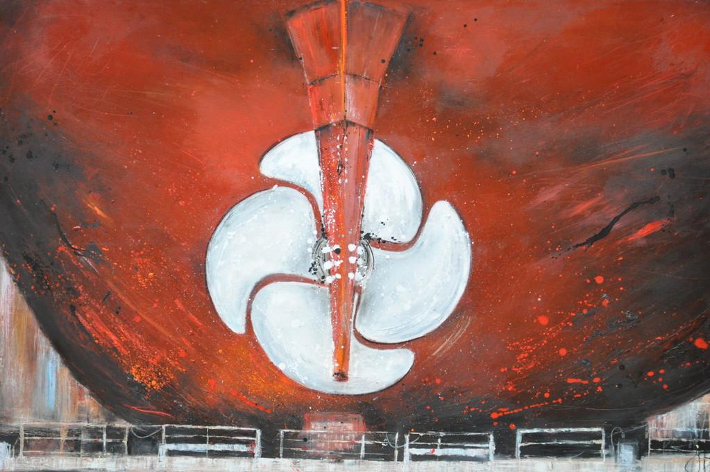 Schraube, 160 x 107 cm, Öl auf Leinwand, 2010