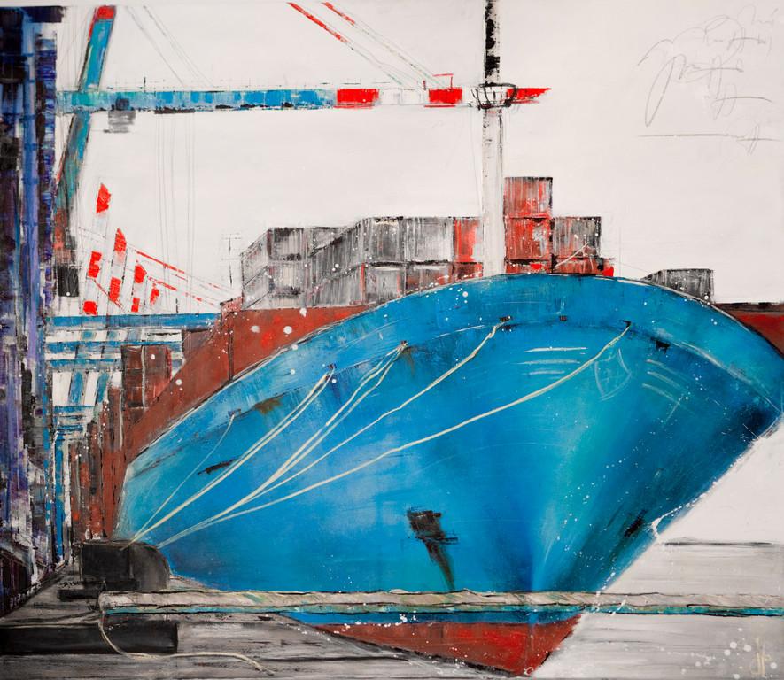 Maersk, 140 x 120 cm Öl auf Leinwand, 2010