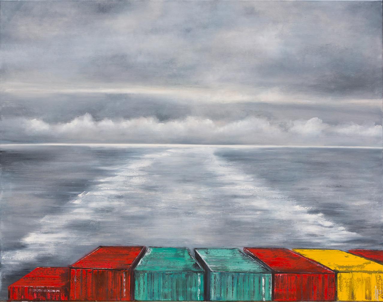Rückblick, 140 cm cm x 110 cm, Öl auf Leinwand, 2013