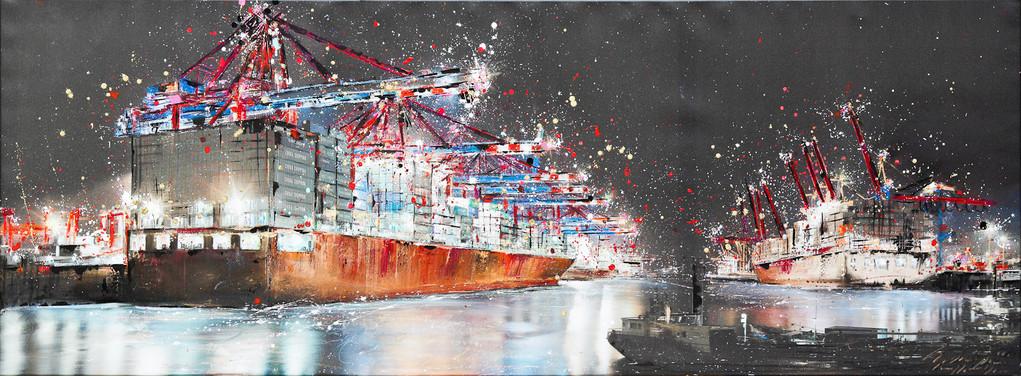 Rigoletto II, 250 cm x 90 cm, Öl und Photographie auf Leinwand, 2012