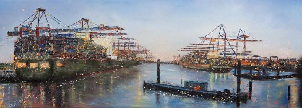 China Shipping, 150 x 54 cm, Öl auf Leinwand, 2010 VERK.