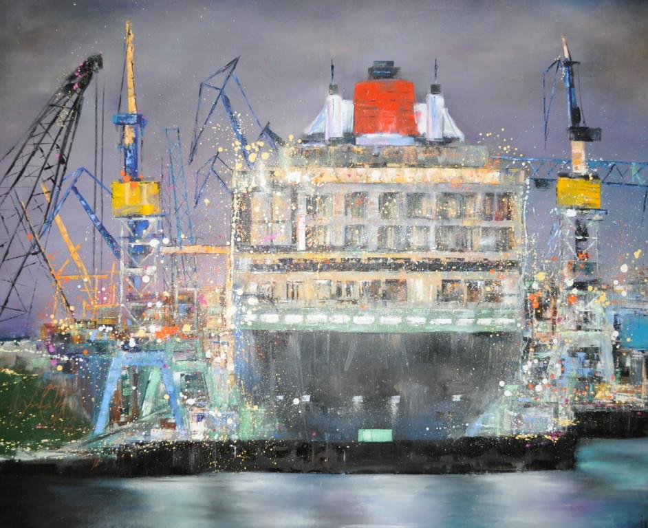 Queen Mary, 180 cm x 130 cm, Öl auf Leinwand, 2011