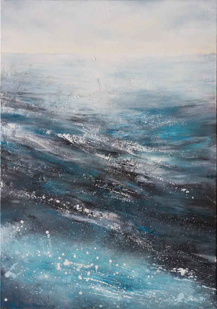 Welle, 200 cm x 140 cm, Öl auf Leinwand, 2013