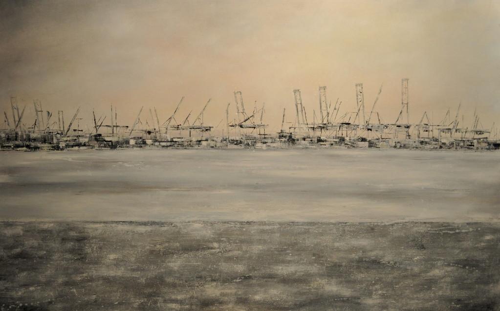 Neujahrstag, 160 x 100 cm, Öl auf Leinwand, 2011, VERK.