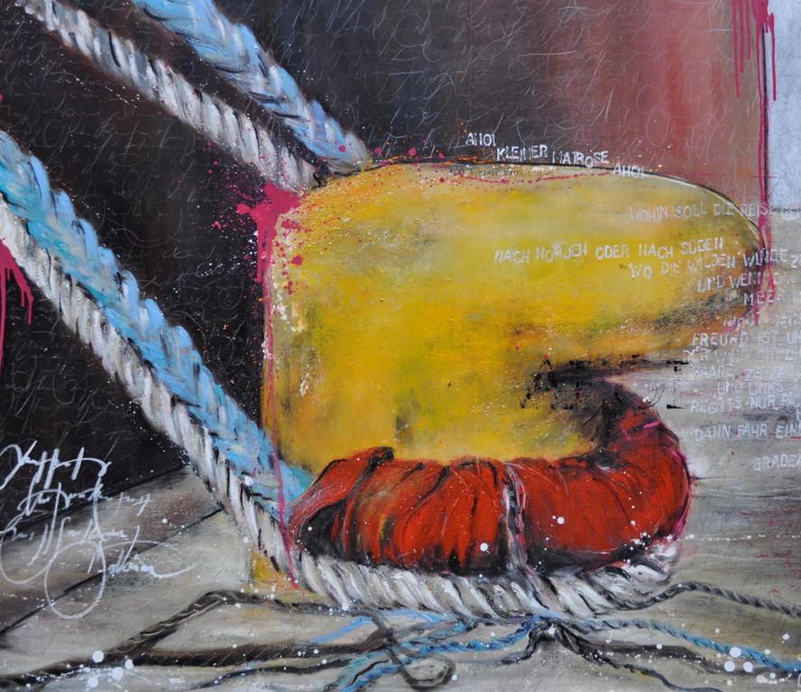 Festgemacht, 140 cm x 160 cm, Öl auf Leinwand, 2011