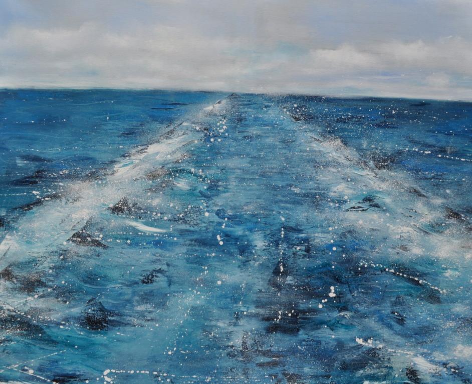 Der Weg, 110 cm x 130 cm, Öl auf Leinwand, 2011
