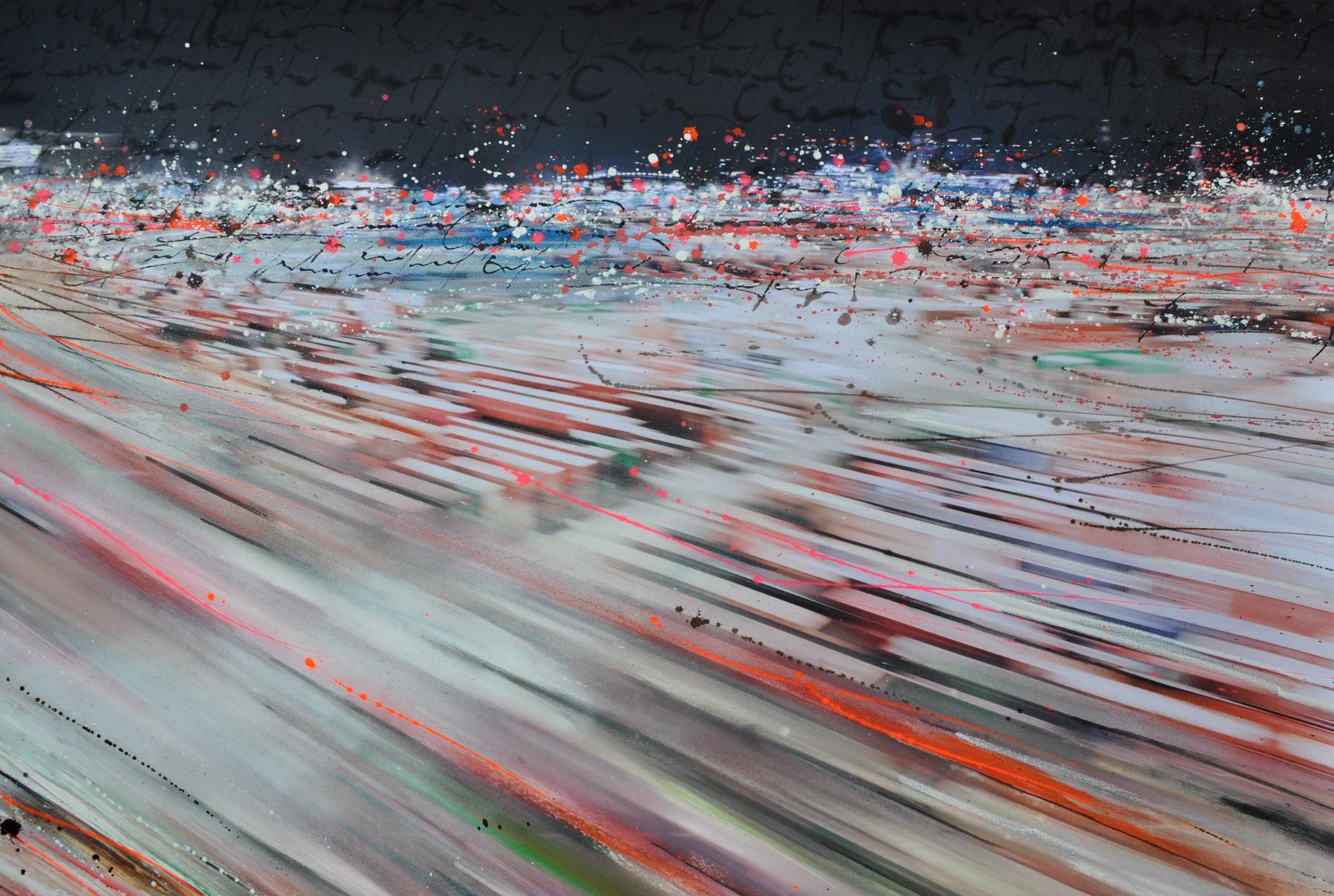 Containtermeer, 160 cm x 120 cm, Acryl auf Photographie