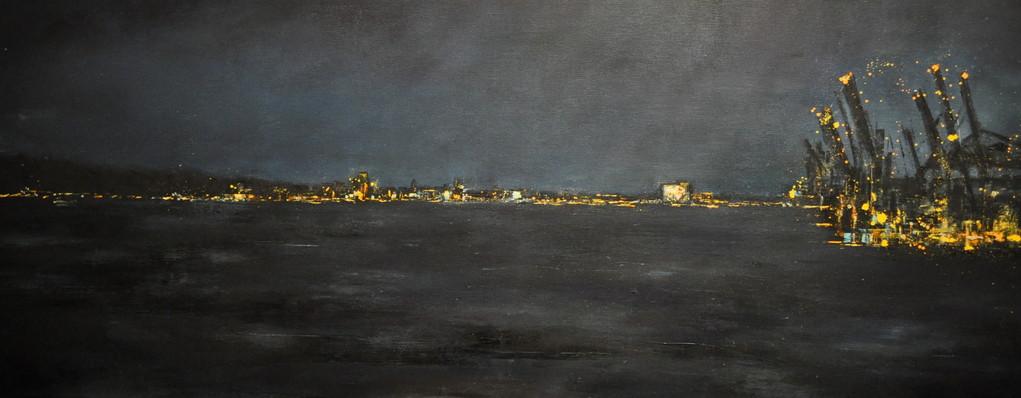 Willkommen, 160 x 40 cm, Öl auf Leinwand, 2011
