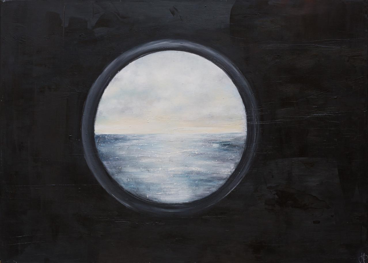 Fenster zum Meer, 200 cm x 140 cm, Öl auf Leinwand, 2013