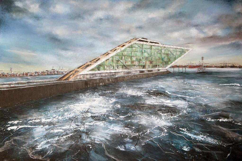 Dockland, 180 x 120 cm, Öl auf Leinwand, 2010