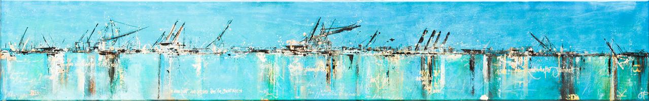Am Wichtigsten ist die Seele, 220 cm x 40 cm, Öl auf Leinwand, 2012