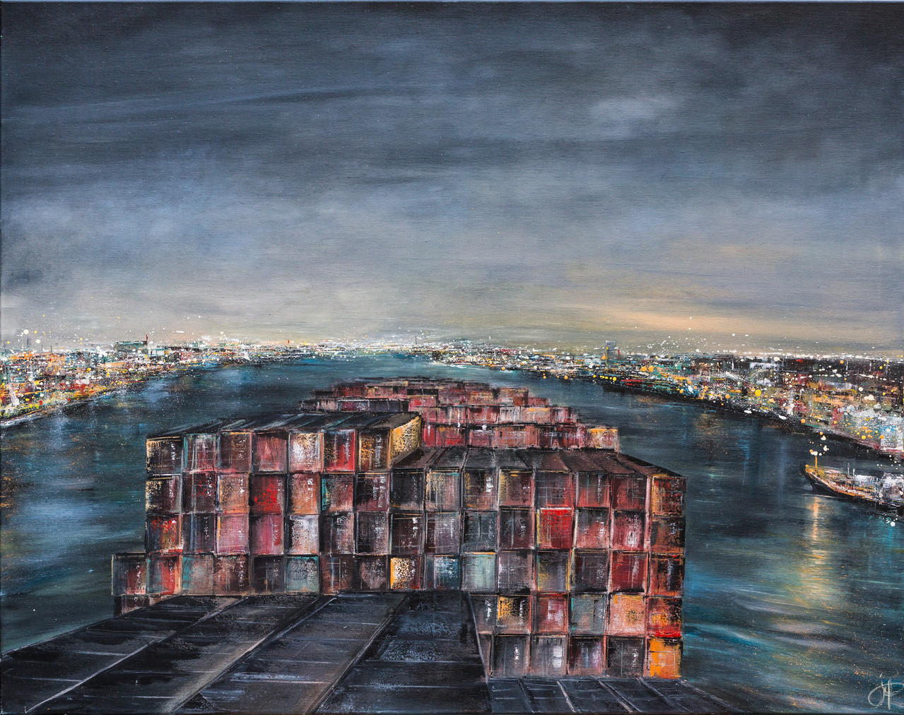 Rotterdam, 140 cm x 110 cm, Öl auf leinwand, 2013