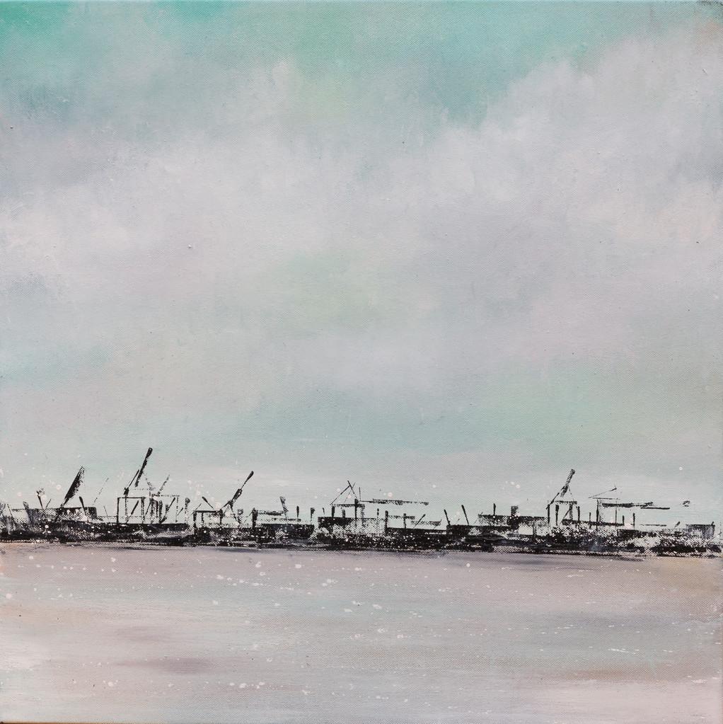 Nah und fern II, 50 cm x 50 cm, Acryl auf Leinwand, 2013