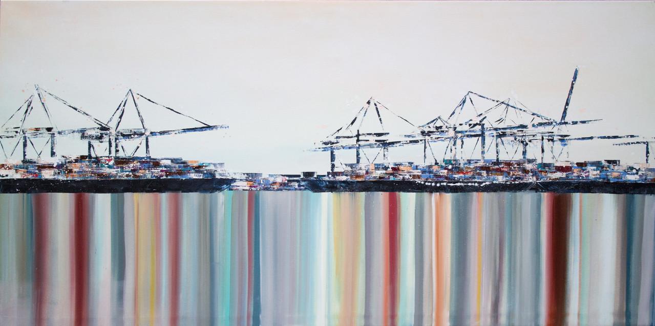 Spiegelung, 200 cm x 110 cm, Öl auf Leinwand, 2013