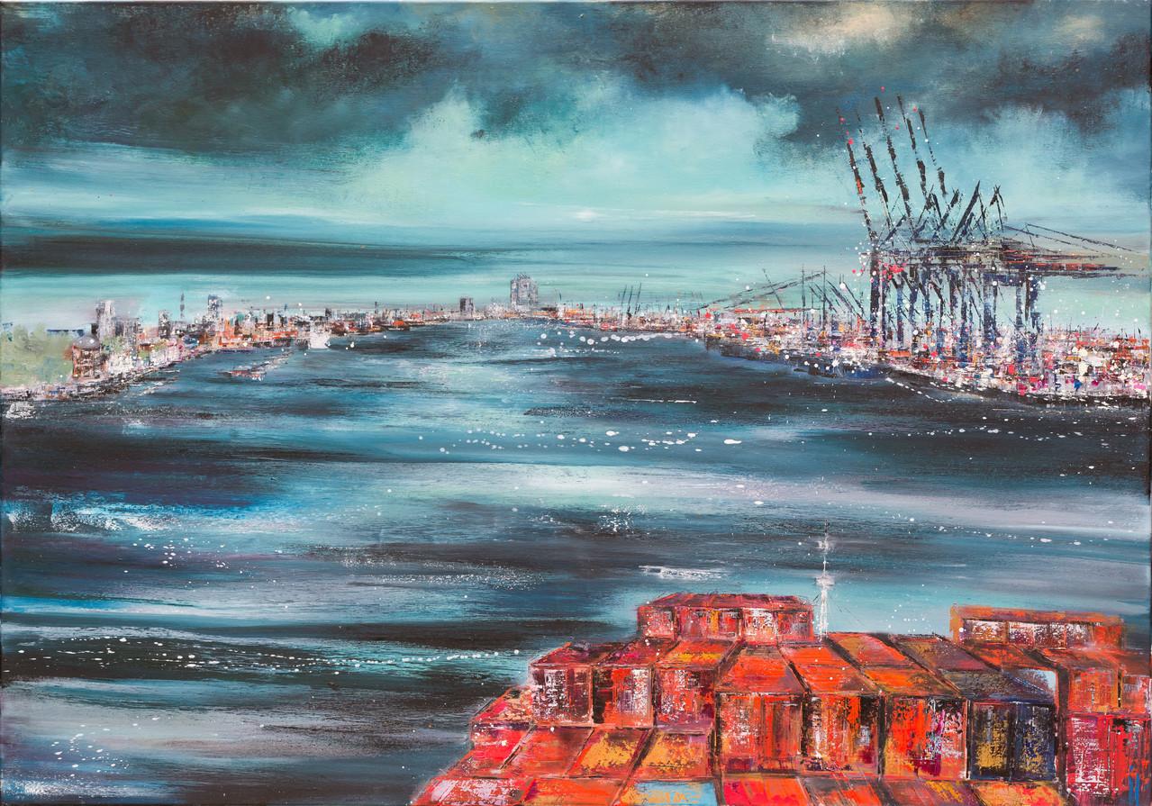 Going home, 140 cm x 110 cm, Öl auf Leinwand, 2013