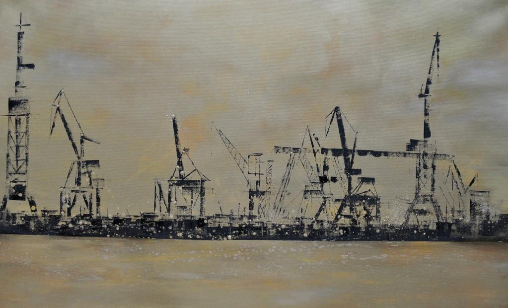 Gold, 80 cm x 130 cm, Öl auf Leinwand, 201