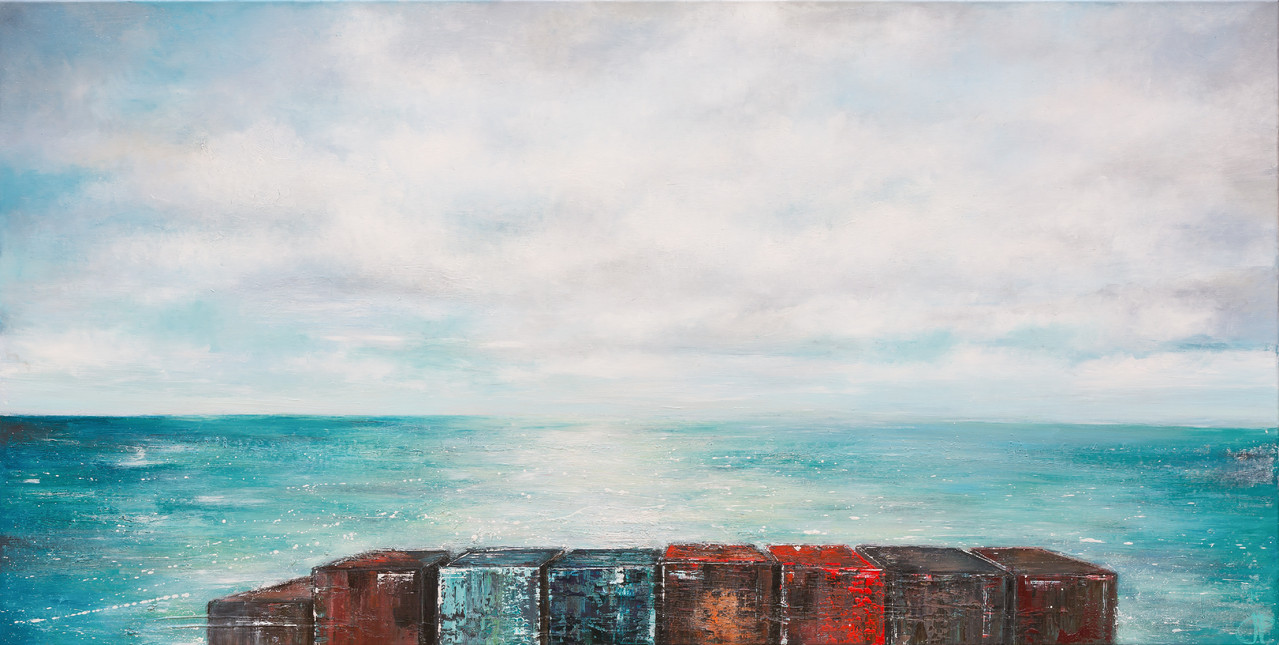 Rückblick II, 160 cm x 110 cm, Öl auf Leinwand, 2013