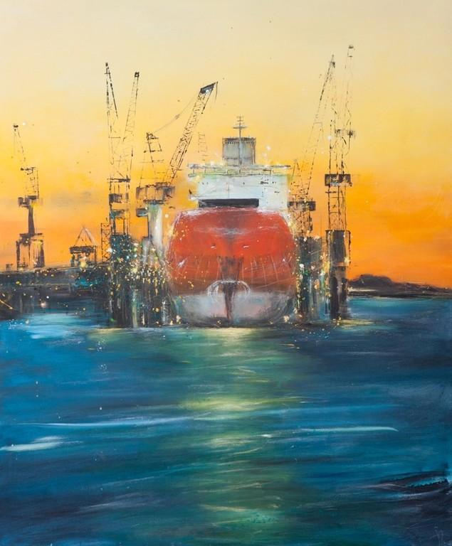 Dock III, 120 x 100 cm, Öl auf Leinwand, 2009 VERK.