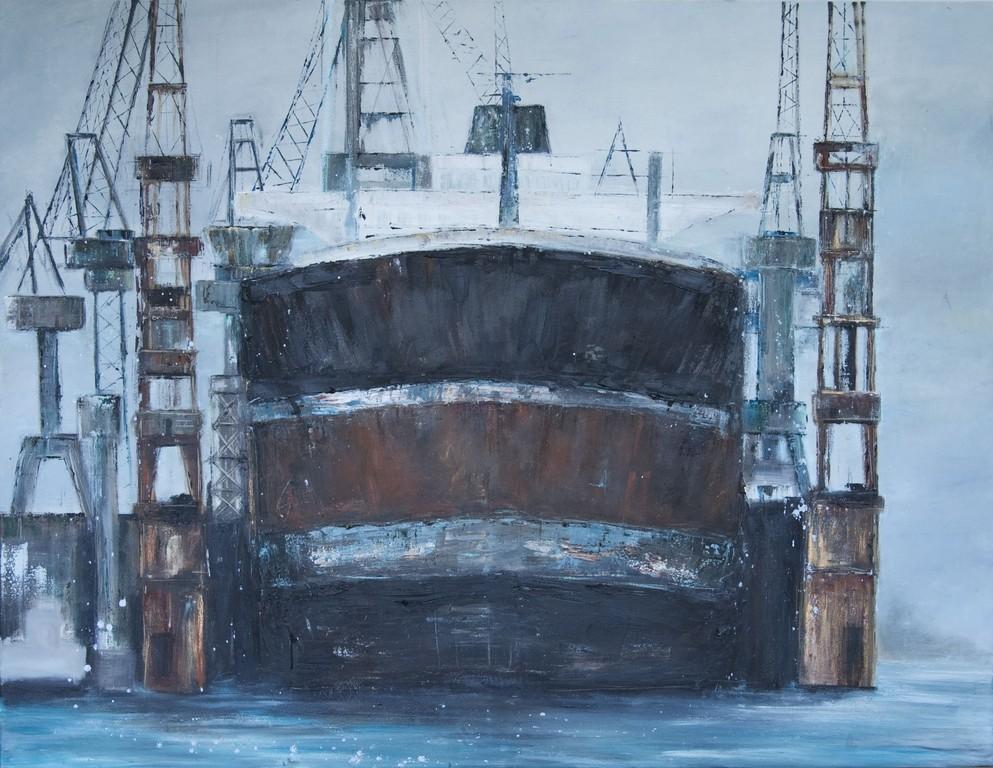 Dock, 120 x 100 cm Öl auf Leinwand, 2009