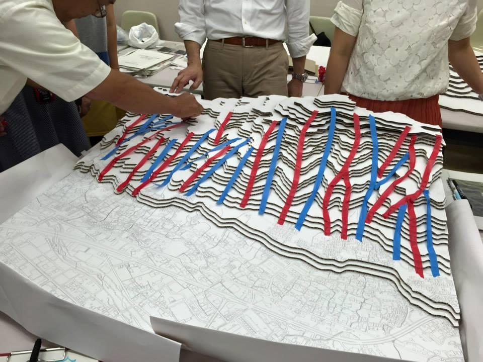 静岡県教員免許講習会 ジオラマを使った土砂災害の仕組みの理解