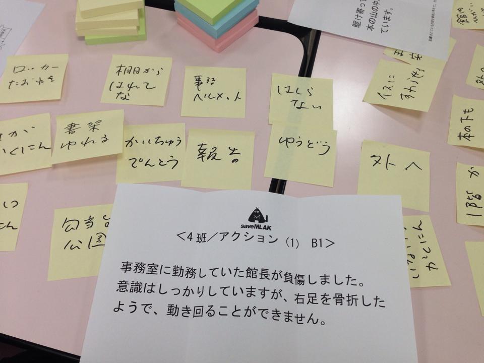 図書館地区別(北日本)研修 ワークショップ②震災に備える 図書館の危機管理