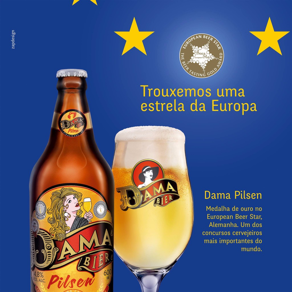 "Brewery DAMA from Brazil won ""gold"" as the best PILS Beer!"