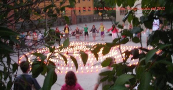 Laberinto de luz de las Hijas de Gaia. Villafranca de Bierzo. Peregrinación de 2011