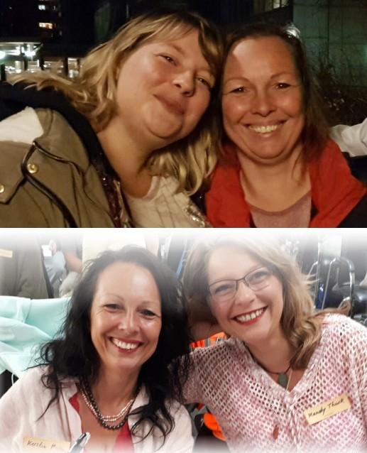 Kerstin Mais mit Tochter Mandy - oben Dezember 2016 - unten September 2018 - oben dick unten schlank