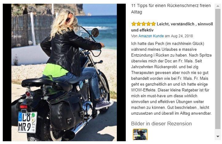 Manuela Ritschard auf einem Motorrad