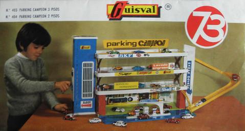 ANUNCIO DEL PARKING GUISVAL  DE LA SERIE CAMPEON DEL AÑO 1.973