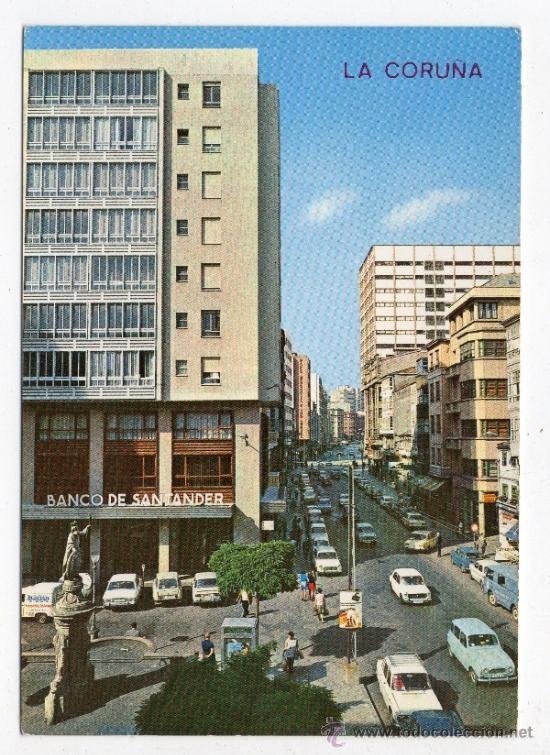 CALLE SAN ANDRES CON PLAZA DE SANTA CATALINA (CUANDO NO ERA PEATONAL), AÑOS 70.