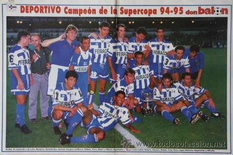SUPERCOPA 1.995 GANADA AL REAL MADRID.