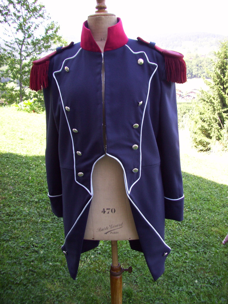 veste de grenadier devant confection Emma couture