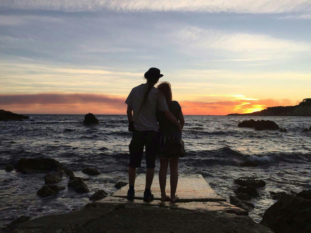 Sonnenuntergang in Sanary sur Mer
