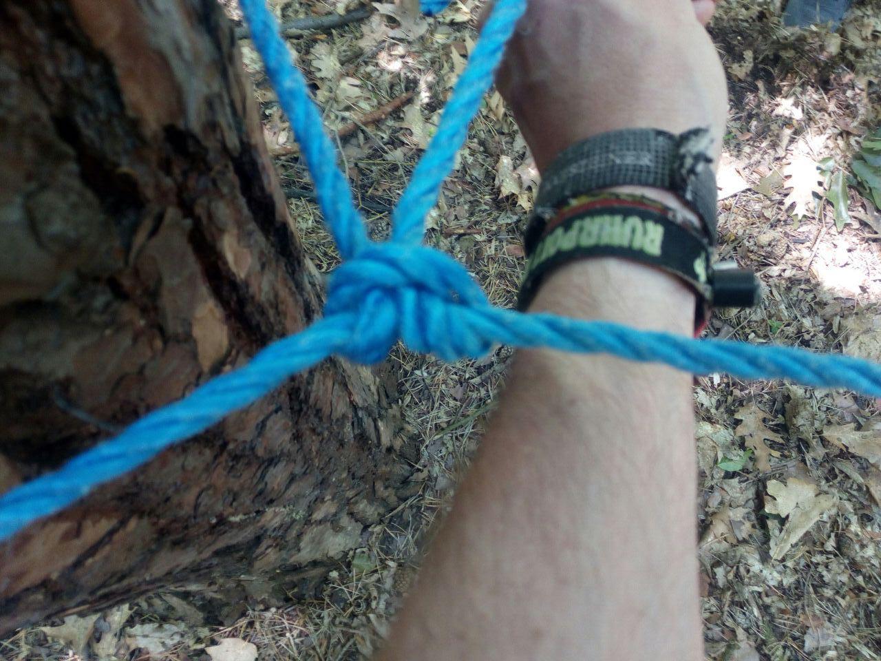 Der Samariter-Knoten. Danke! Den merk ich mir!