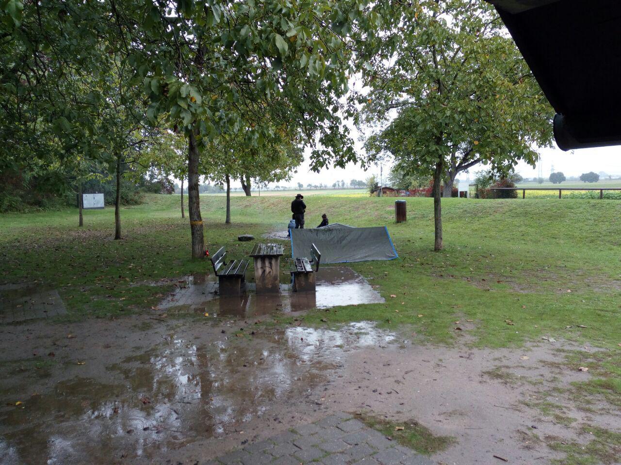 Der Picknickbereich glich einer Wattwanderung.