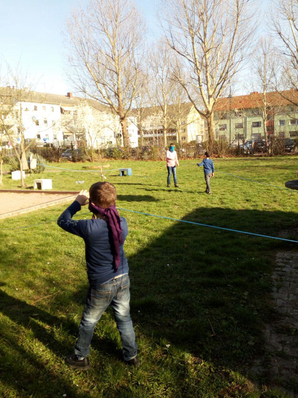 Sinnesparcours im Schulgarten