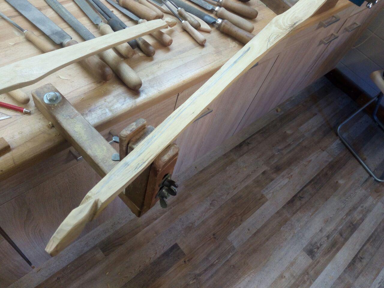 Noch zu schwer - da muss Holz runter.