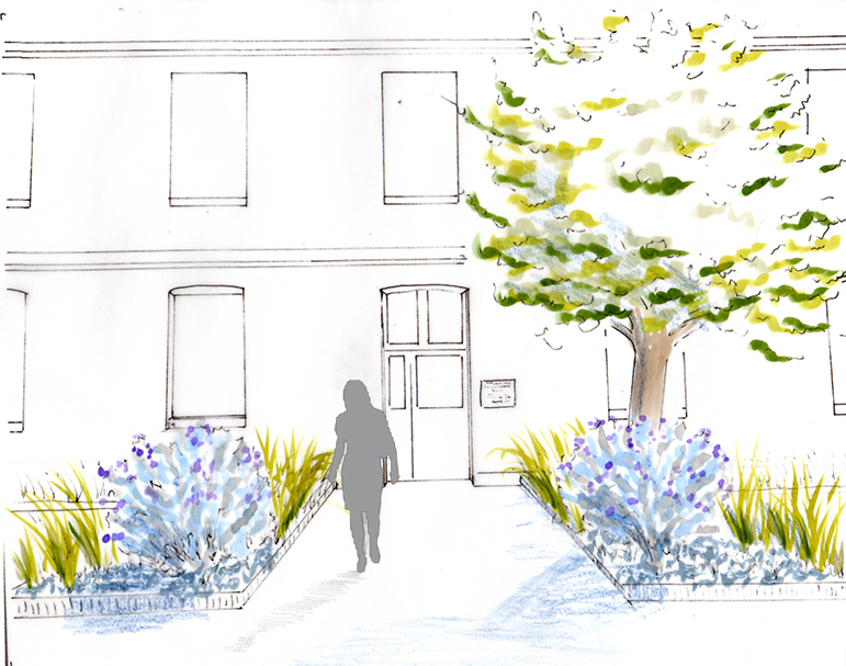 Avant-projet - Dessin d'ambiance du futur espace d'accueil