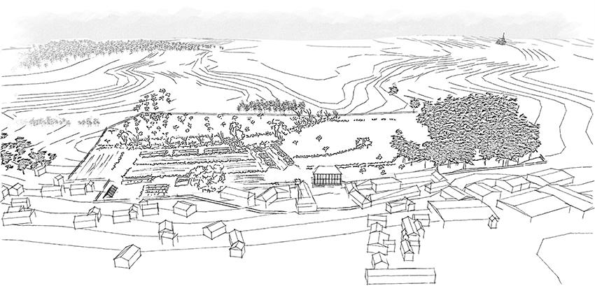 Avant-projet - Vue aérienne du projet