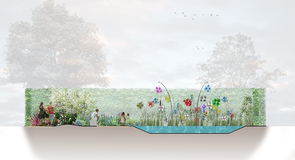Coupe pour le festival international des jardins de Chaumont sur Loire 2019. Elixir floral