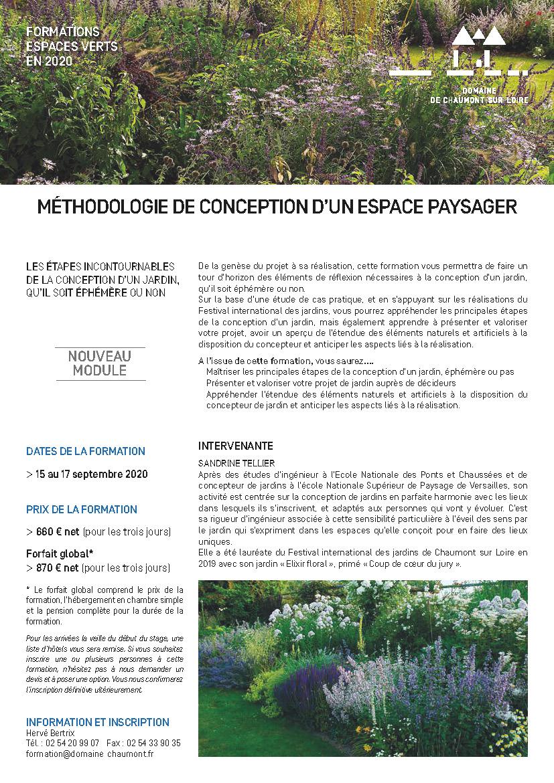 Formation 'Méthodologie de conception d'un espace paysager' dispensée par Sandrine Tellier