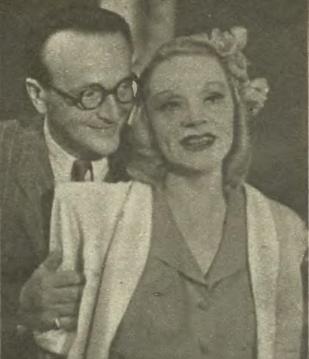 Tadeusz Wesolowski i Hanna Różańska w sztuce Codziennie o 5-tej ( T.Kameralny TUR Kraków 1946 )