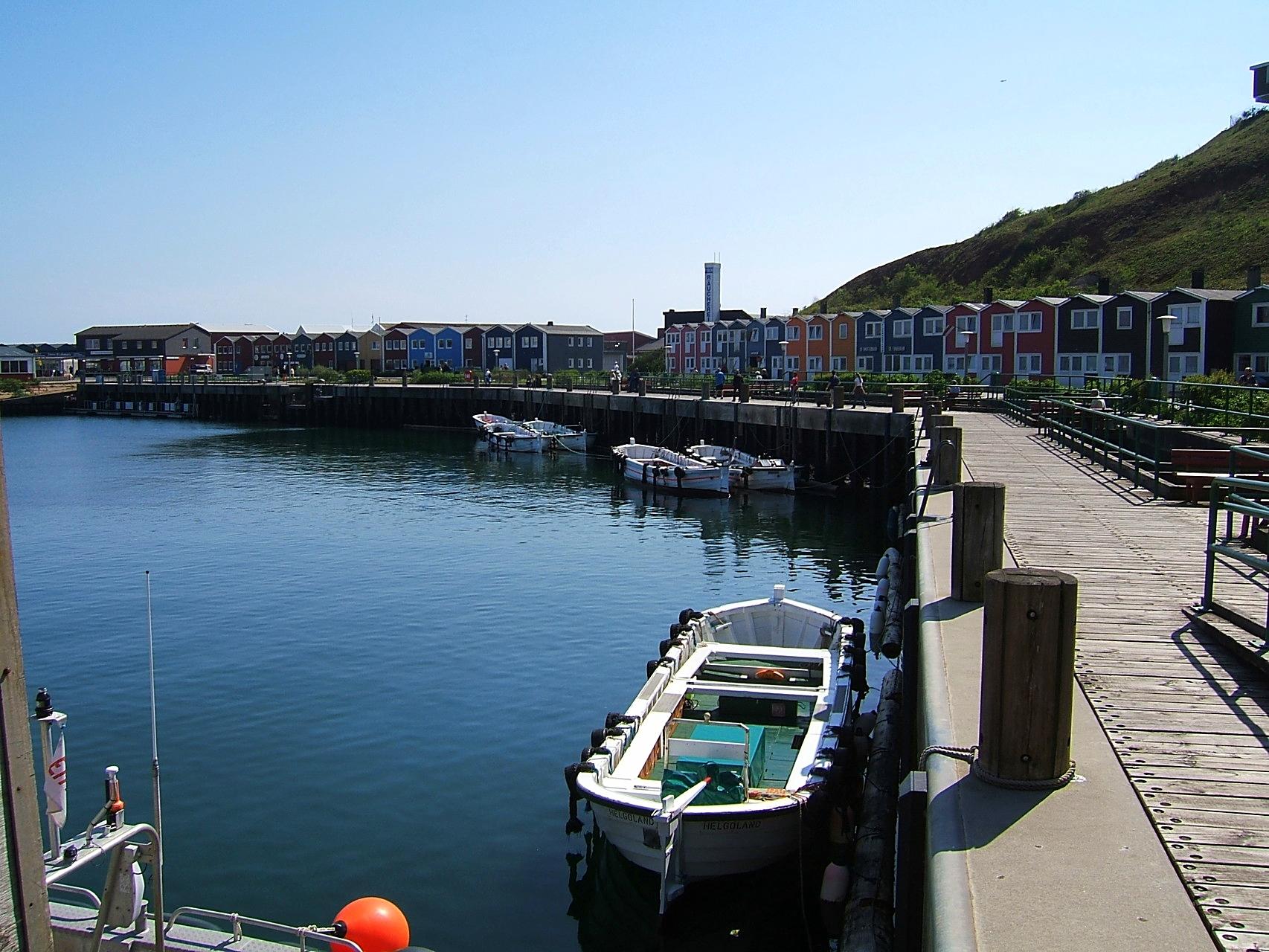Börteboot im Hafen von der Hochseeinsel Helgoland