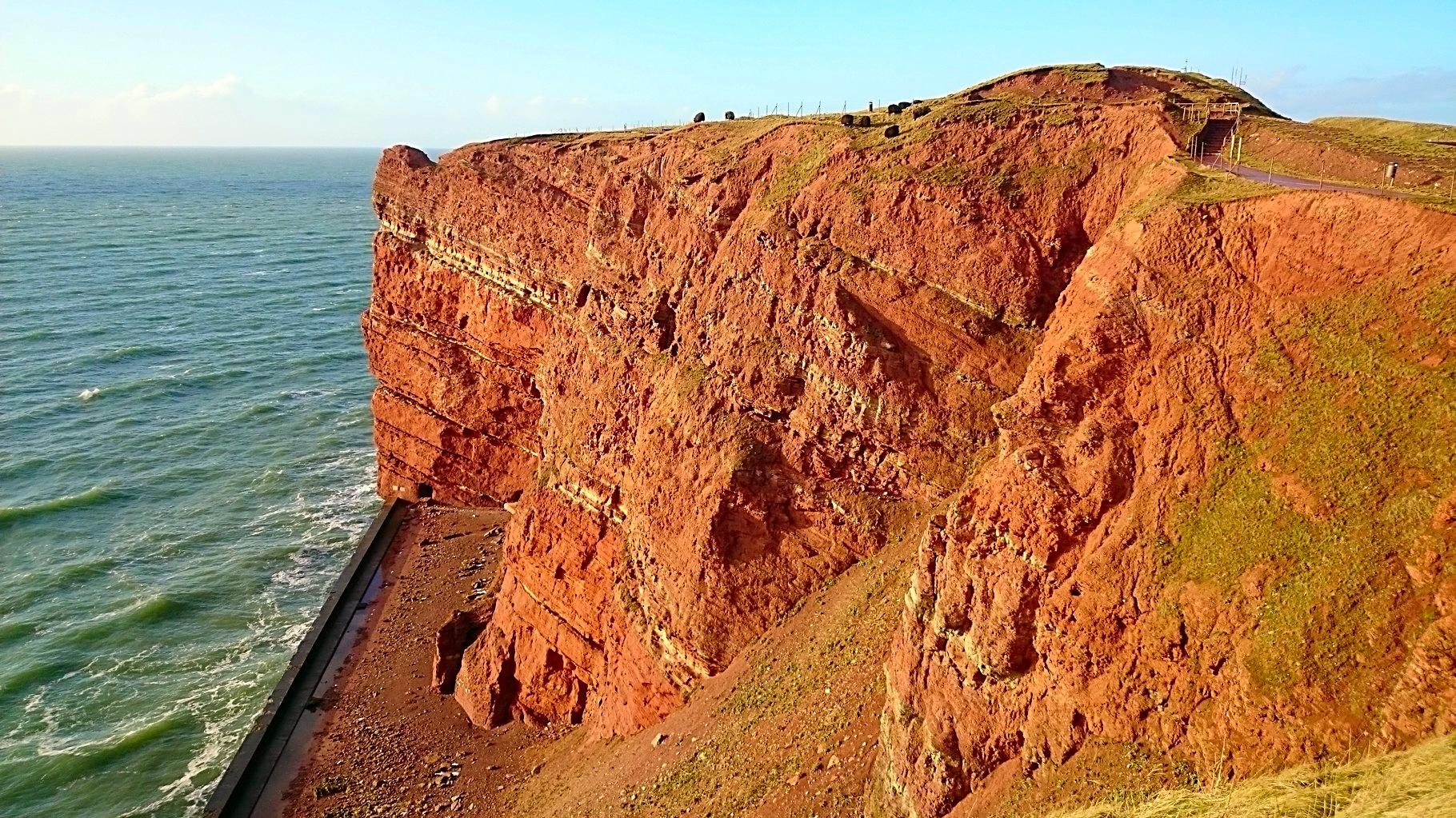 Der rote Felsen der Insel Helgoland
