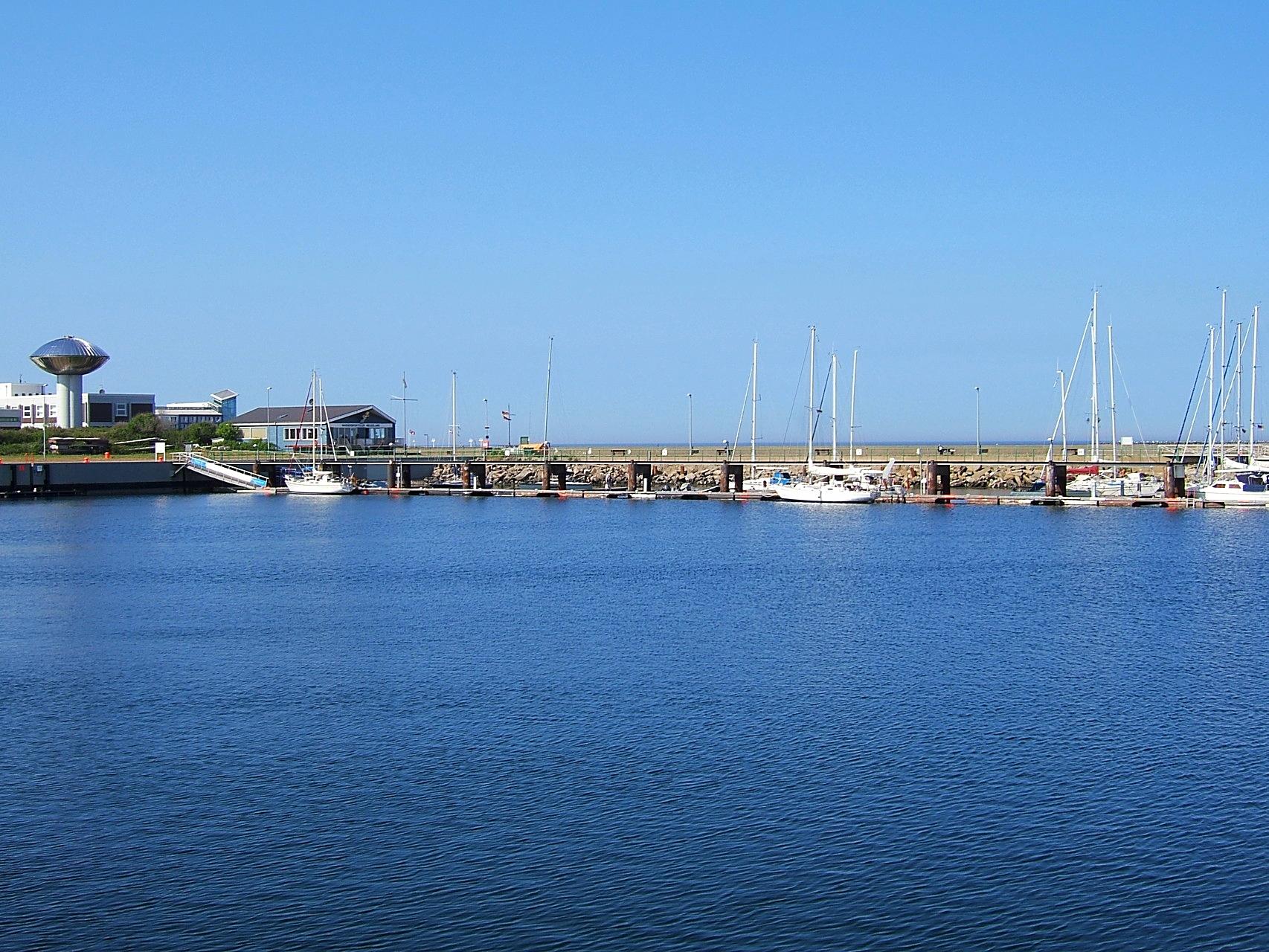 Der Yachthafen von Helgoland